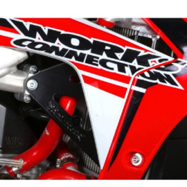 Works Connection Radiator Braces zwart voor de Honda CRF 250 2014-2017