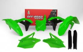 Rtech neon groen/zwart plastic kit voor de KX 250F 2017-2018
