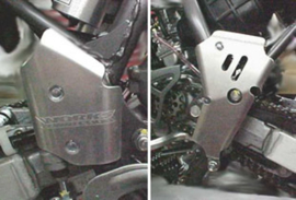 Works Connection frame beschermers voor de Suzuki RM 80 1990-2001
