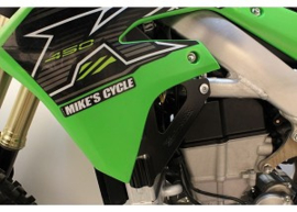 Works Connection Radiator Braces Zwart voor de Kawasaki KX 450F 2019