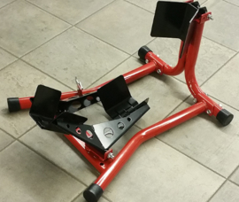 JVL wielklem zwart / rood voor motorwielen vanaf 16 inch