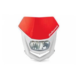Polisport koplamp Halo Led CR rood/wit ECE goedgekeurd