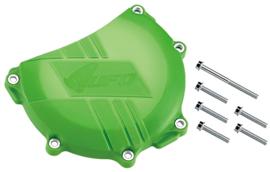 UFO koppelingsdeksel bescherming groen voor de Kawasaki KX 450F 2006-2015