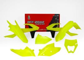Rtech Plastic Kit Fluor geel ( met koplamp plastic ) KTM EXC 250/300 2017-2019 & EXC-F 250/350/450/500 2017-2019