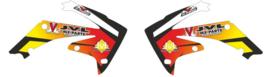 Radiator Kappen eigen ontwerp voor alle motorcross merken en modellen
