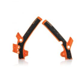 Acerbis X-Grip Framebeschermers + Grip zwart/oranje KTM SX 85 2018-2019 & Husqvarna TC 85 2018-2019