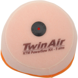 Twin Air luchtfilter ongeolied voor powerflow kit 154214C KTM SX 125/250 2007-2010 & EXC 125 2010-2011 & SX 144 2007-2008 & SX 150 2009-2010 EXC 200 2007-2010 & EXC 250 2007-2011 & EXC 300 2008-2011