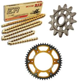 Ketting/Tandwiel kit bestaande uit Supersprox voor Supersprox achter tandwiel stealth ketting DID 428 NZ3 goud KTM SX 85 2004-2018 & Husqvarna TC 85 2014-2018