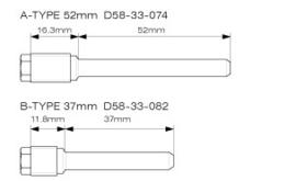 DRC remblok pin set ( voor & achterrem ) Kawasaki KX 125/250 1997-2008 & KX 250F 2004-2018 & KX 450F 2006-2018 & Suzuki RM-Z 250 2004-2006