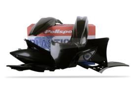 Polisport plastic kit zwart voor de KX 250F 2009-2012