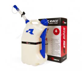 R-tech brandstoftank 15 liter wit/blauw