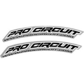 Pro Circuit voorspatbord stickers in 3 kleuren ( per set van 2 )