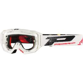 Progrip 3303 Vista crossbril wit met blanke lens