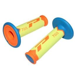 Pro Grip 788 handvaten Tri-Compound fluor oranje / fluor geel / licht blauw