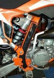 Acerbis X-Grip Framebeschermers + Grip voor de KTM SX 85 2013-2017 & Husqvarna TC 85 2014-2017 zwart/oranje