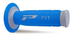 Pro grip handvaten 791 cross soft touch grijs / licht blauw