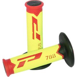 Pro Grip 788 handvaten Tri-Compound rood / fluor geel / zwart