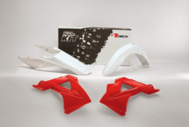 Racetech plastic kit wit/rood Gas Gas MC/EC 125/200/250/300/450 2011-2013 & FSR 250 2011-2013