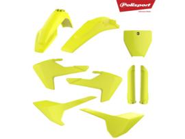 Polisport Plastic kit Neon Geel + voorvork beschermers voor de Husqvarna TC 125/250 2016-2018 & FC 250/350/450 2016-2018