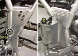 Works Connection Frame beschermers voor de Honda CR 80R 1996-2002