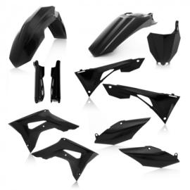Acerbis plastic kit + voorvork beschermers zwart voor de Honda CRF 250R 2019 & CRF 450R 2019