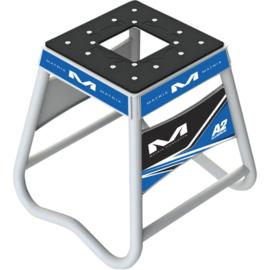 Matrix motorbok A2 aluminium wit/blauw