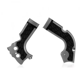 Acerbis X-Grip Framebeschermers + Grip zilver/zwart voor de Honda CRF 250R 2014-2017 & CRF 450R 2013-2016