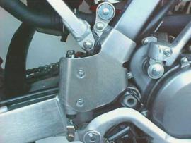 Works Connection frame beschermers voor de Suzuki RM 250 2003
