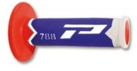 Pro Grip 788 handvaten Tri-Compound wit / blauw /rood