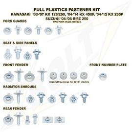 Bolt boutenset voor plastic werk voor de Kawasaki KX 250F 2013-2016 & KX 450F 2012-2015