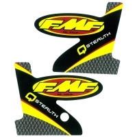 FMF 2 delige dempersticker voor de Q Stealth uitlaten