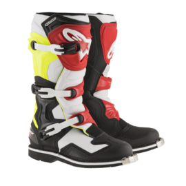 Alpinestars laarzen off-road Tech 1 zwart/wit/geel/rood