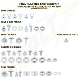 Bolt boutenset voor plastic werk voor de Yamaha YZ 250F 2010-2013 & WR 450F 2012-2016