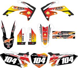 Eigen ontwerp stickerset compleet voor alle merken vanaf 125cc