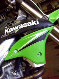 AXP Radiator beschermers voor de Kawasaki KX 450F 2006-2008
