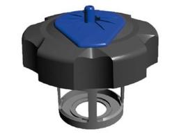 Tuff Jug benzine dop voor Yamaha WR/WRF/YZ/YZF 02-13 zwart/blauw