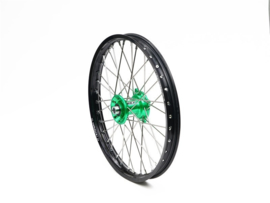 REX Wheels 21-1.60 compleet voorwiel zwarte velg met groene naaf 20MM Kawasaki KX 125/250 2006-2008 & KX 250F 2006-2018 & KX 450F 2006-2019
