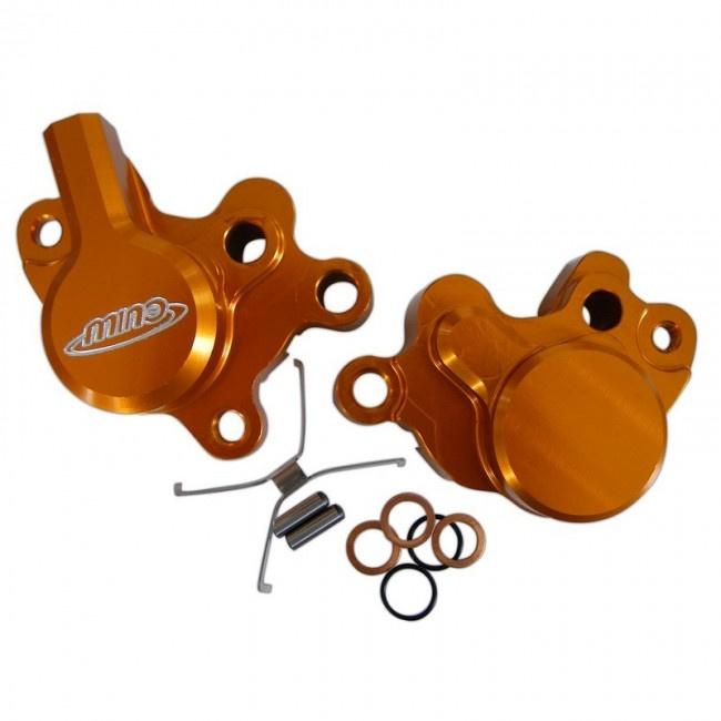 Mino 2-zuiger Achter remklauw oranje KTM SX 65 2009-2019 & SX 85 2004-2011 & Husqvarna TC 65 2017-2019