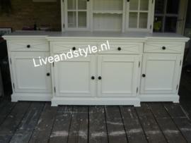 Uniek landelijk dressoir Riviera wit / old grey - verkocht!
