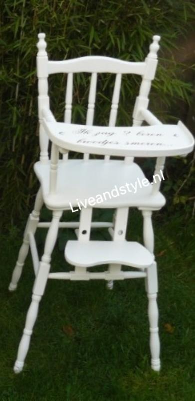 Brocante Kinder Stoel.Brocante Landelijke Kinderstoel Met Torentjes Ook Met Tekst