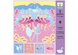 5 sjablonen `ballet`