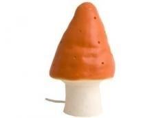 mooie oranje paddestoellamp
