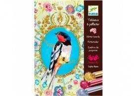 glitter schilderij `vogel`