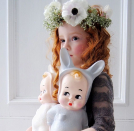 baby lapin lamp grey