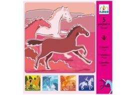 5 sjablonen `paarden`