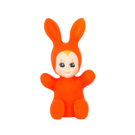 baby bunny lamp fluo red
