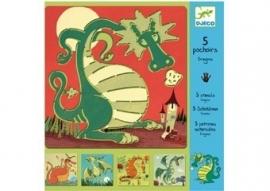 5 sjablonen `draken`