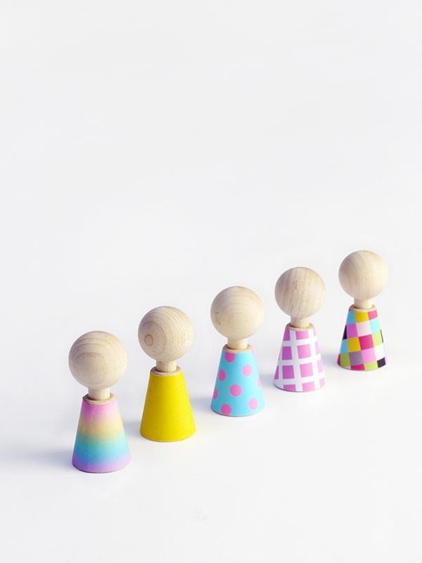 color pebbles