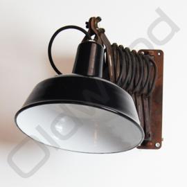 Vintage industrial wall lamp / scissor-lamp / hinge lamp