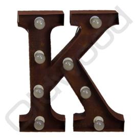 Vintage light letter ''K''